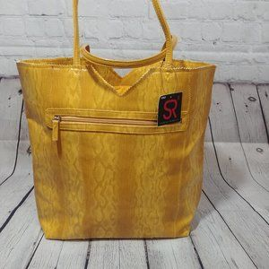 SR2 Sondra Roberts Mustard Yellow tote bag NEW